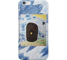 Bird Makes Fancy Self Portrait iPhone Case/Skin
