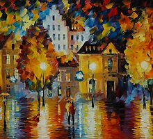 ROMANTIC AMSTERDAM - LEONID AFREMOV by Leonid  Afremov