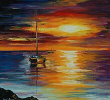 CALM SEA - LEONID AFREMOV by Leonid  Afremov