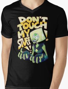 Don't Touch Her Stuff Mens V-Neck T-Shirt