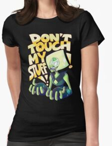 Don't Touch Her Stuff Womens Fitted T-Shirt