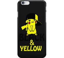 Black and Yellow ( Pika Pika ) Iphone Case ! ( Black ) iPhone Case/Skin