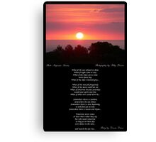 ~ Let's watch the sun rise ~ A collaboration with Polly Brown Canvas Print