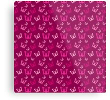 Breast Cancer Butterfly Ribbons Metal Print