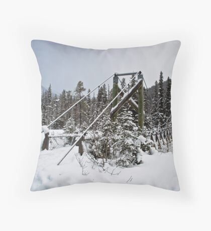 Winter Bridge Throw Pillow