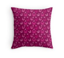 Breast Cancer Butterfly Ribbons Throw Pillow