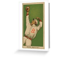 Benjamin K Edwards Collection Beals Becker Boston Doves baseball card portrait Greeting Card