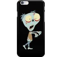 Fred The Zombie - Black iPhone Case/Skin