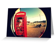 Red Phonebox Greeting Card