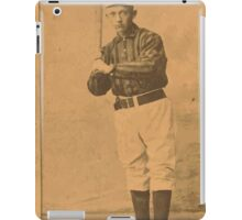 Benjamin K Edwards Collection Bill George New York Giants baseball card portrait 003 iPad Case/Skin