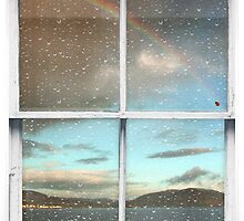 Window Art 2 - Scottish Hills and rainbow by Michael Murray
