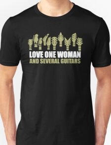 Love One Woman and several Guitars T-Shirt