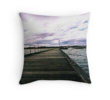 Mordialloc Pier Throw Pillow