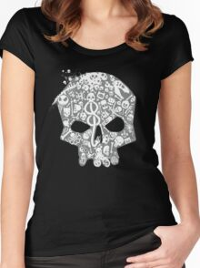Skull famous heads Women's Fitted Scoop T-Shirt