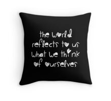 World Reflection Throw Pillow