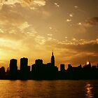 Sunset Over The New York City Skyline by Vivienne Gucwa