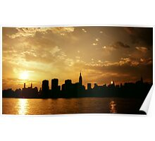 Sunset Over The New York City Skyline Poster