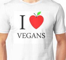 I Love Vegans Unisex T-Shirt