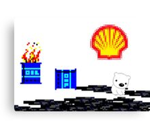 SHELL ruining the arctic for everyone!  Canvas Print