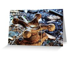 Old Rusty Water Spigot Greeting Card
