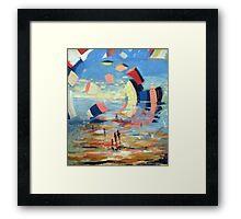 La Côte d'azur Framed Print
