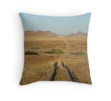Track through Damaraland - Namibia Throw Pillow