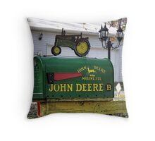 Deer Mailman Throw Pillow