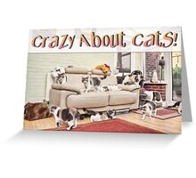 Crazy About Cats! Multiplicity Greeting Card