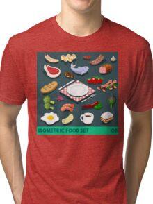 Diet Set Food Isometric Tri-blend T-Shirt