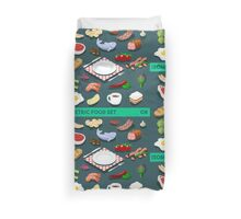 Diet Set Food Isometric Duvet Cover