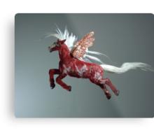 Red Pegasus Metal Print