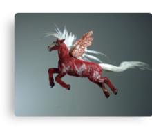 Red Pegasus Canvas Print