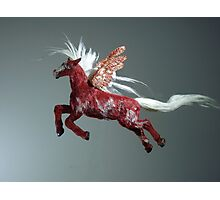 Red Pegasus Photographic Print