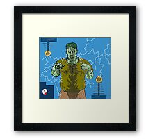 Frankenstein's monster gets the juice ! ( Frank's zapper ) Framed Print