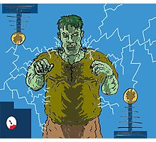 Frankenstein's monster gets the juice ! ( Frank's zapper ) Photographic Print