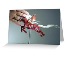 Red Pegasus Scale Greeting Card