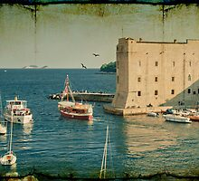 Old Town Harbor, Dubrovnik by MarieG