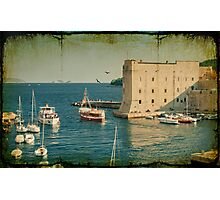 Old Town Harbor, Dubrovnik Photographic Print