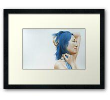 Blue (pastel) Framed Print