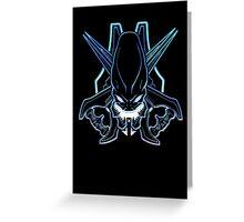 Halo - Legendary Logo (Neon Light Effect) Greeting Card
