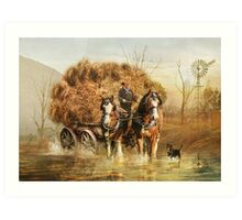 The Hay Wagon Art Print