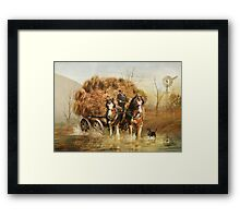 The Hay Wagon Framed Print