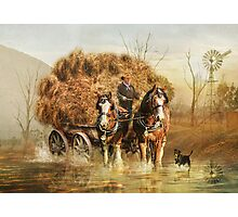 The Hay Wagon Photographic Print