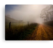 Retreat Valley Road, Gumeracha early morning in Autumn Canvas Print