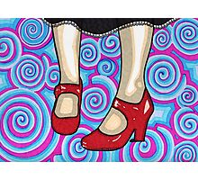 The Red Shoes Photographic Print
