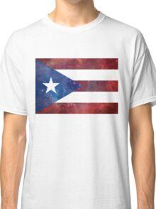 Puerto Rico Bandera Nebula Classic T-Shirt
