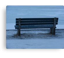 Icicle Bench Canvas Print