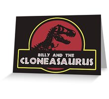 Billy and the Cloneasaurus shirt – The Simpsons, Jurassic World, Jurassic Park, Homer Simpson Greeting Card