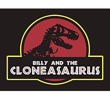 Billy and the Cloneasaurus shirt – The Simpsons, Jurassic World, Jurassic Park, Homer Simpson Photographic Print