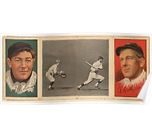 Benjamin K Edwards Collection A L Raymond W A Latham New York Giants baseball card portrait Poster